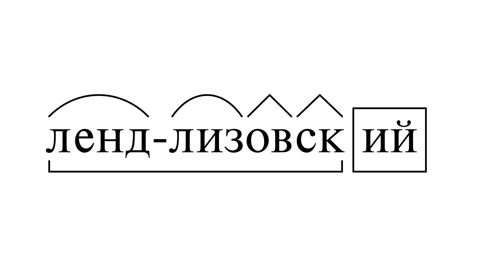 Разбор слова «ленд-лизовский» по составу