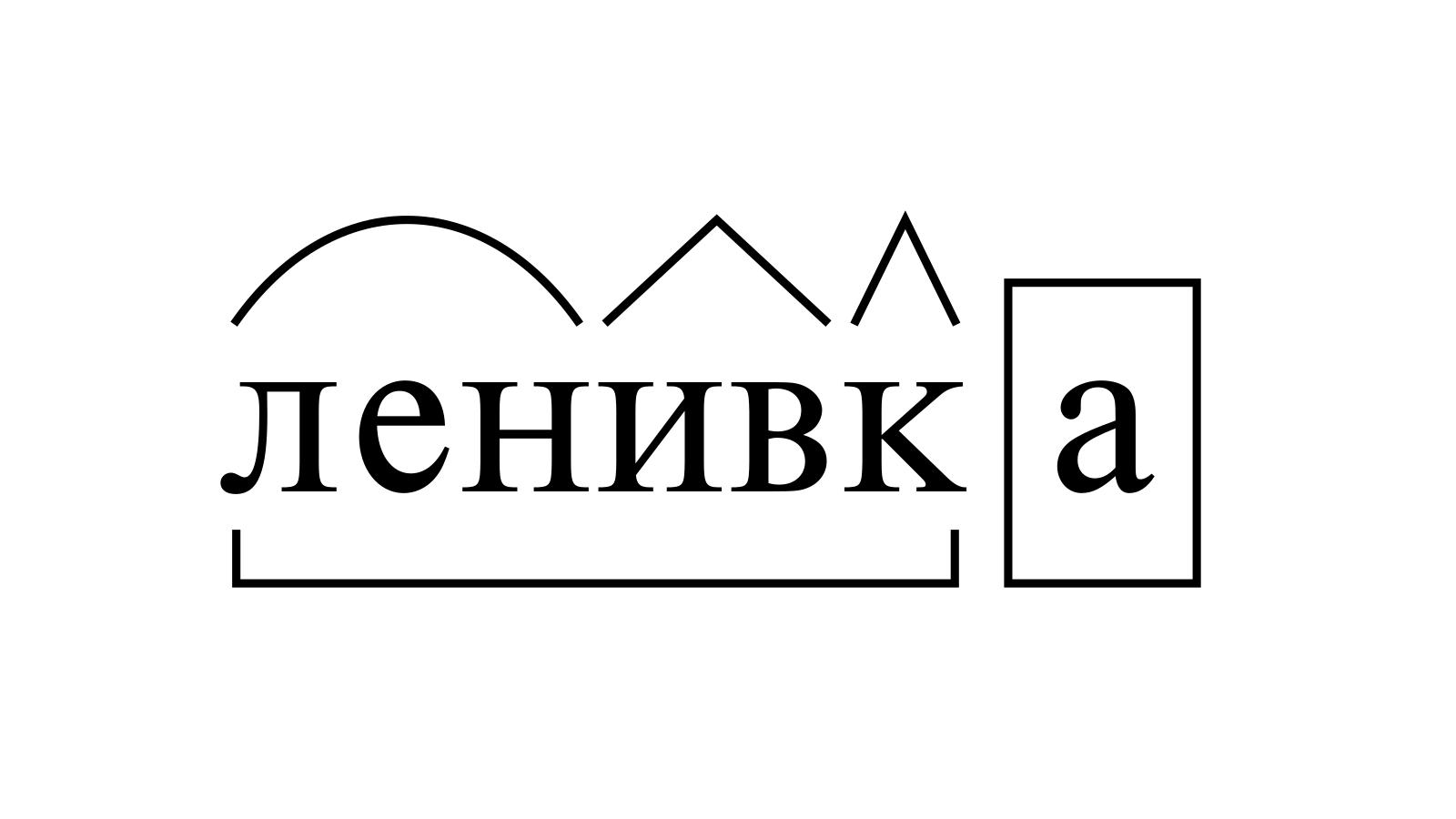 Разбор слова «ленивка» по составу