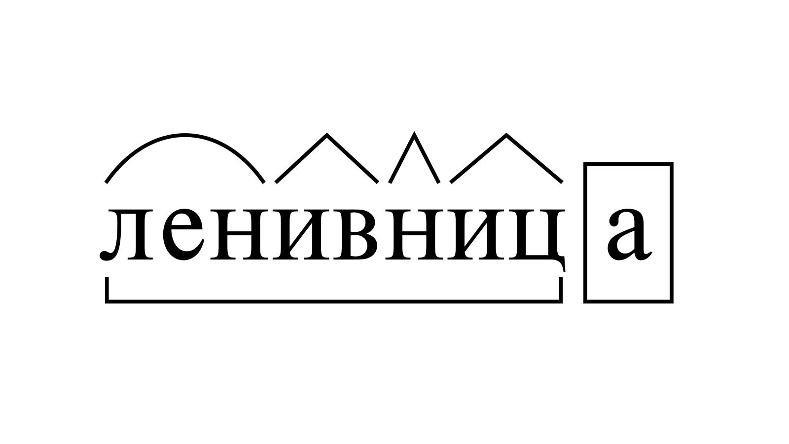 Разбор слова «ленивница» по составу