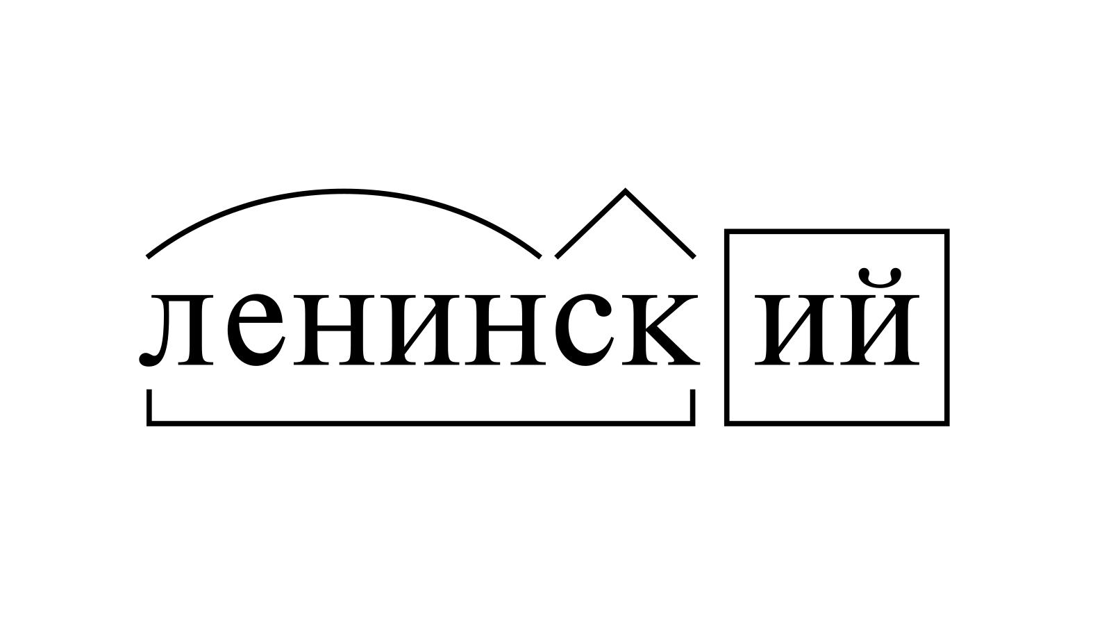 Разбор слова «ленинский» по составу