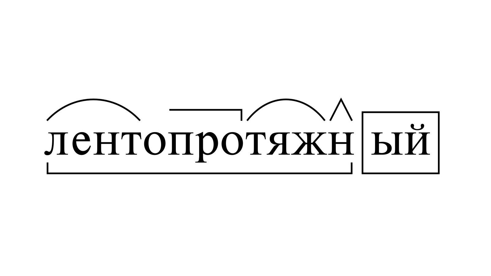 Разбор слова «лентопротяжный» по составу