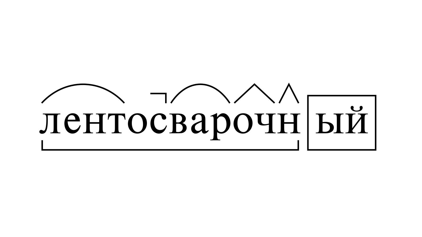 Разбор слова «лентосварочный» по составу
