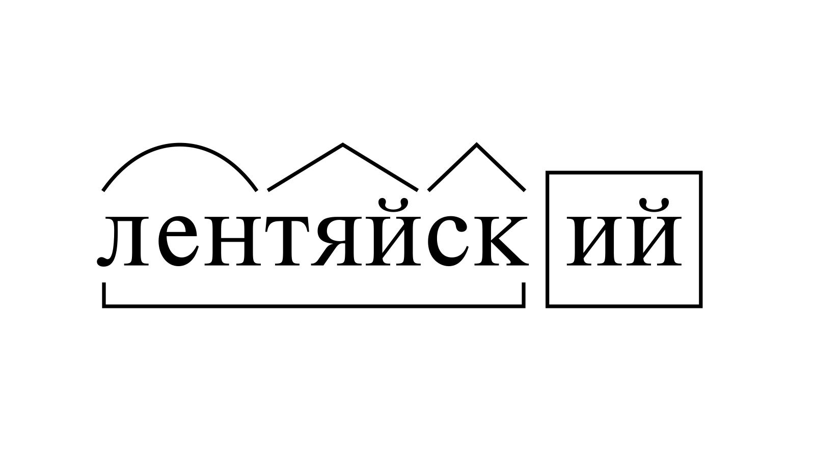 Разбор слова «лентяйский» по составу