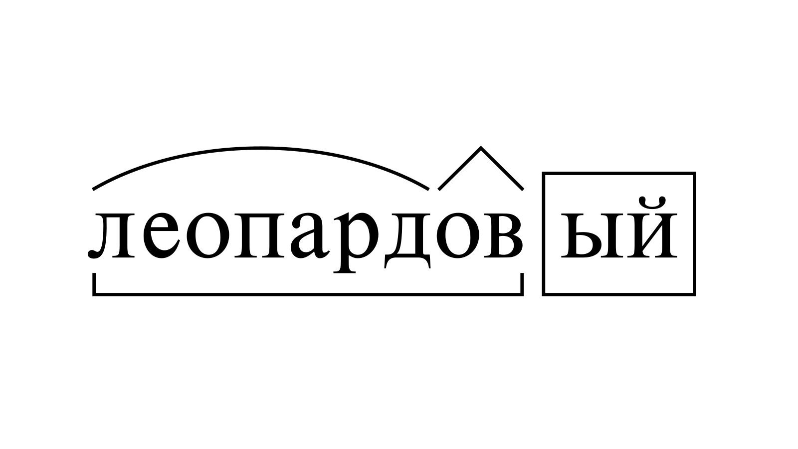 Разбор слова «леопардовый» по составу