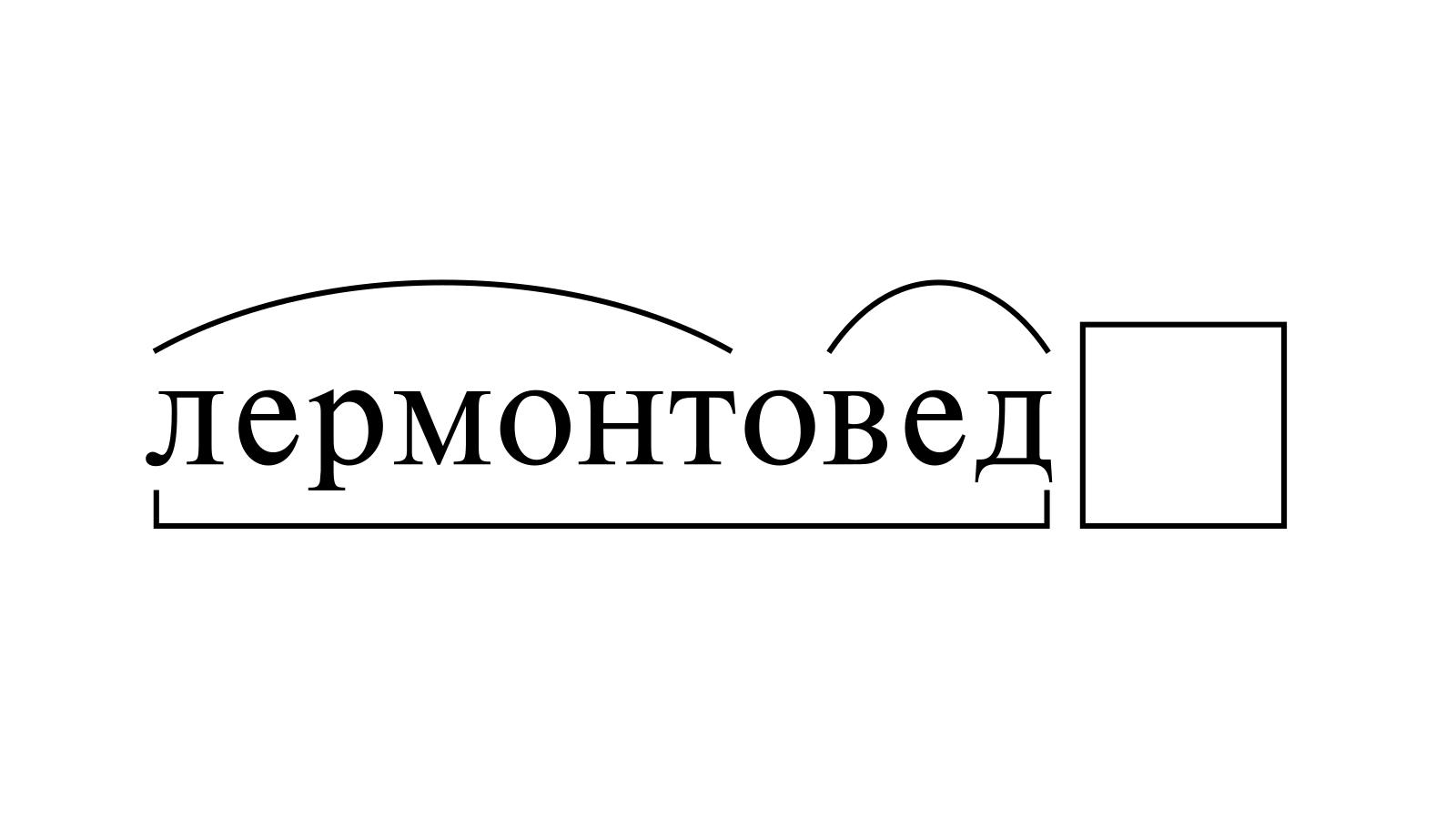 Разбор слова «лермонтовед» по составу