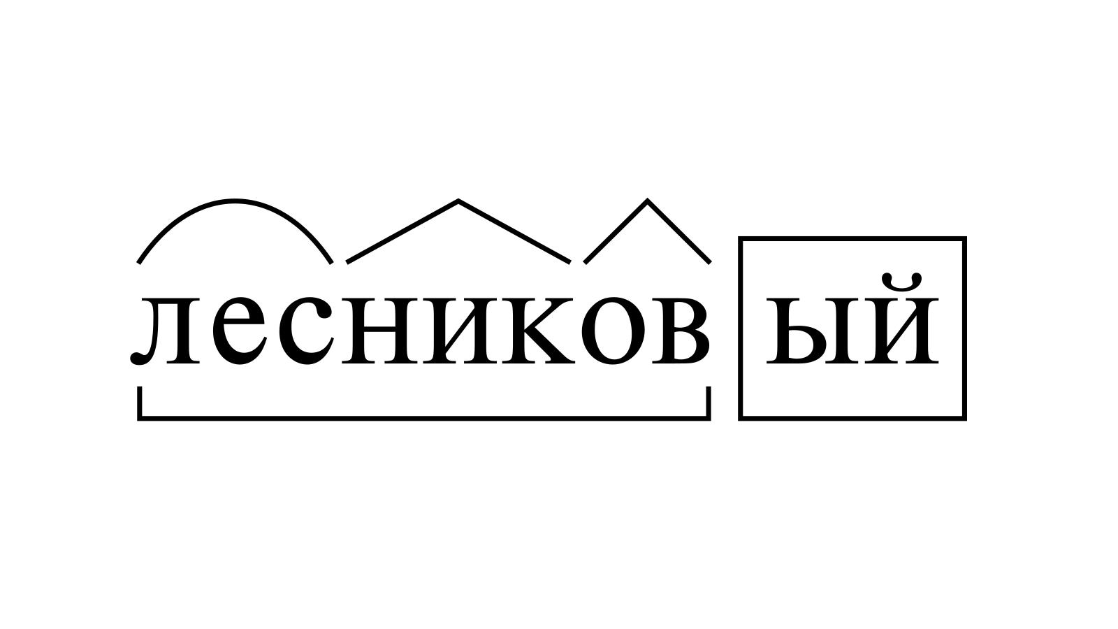 Разбор слова «лесниковый» по составу