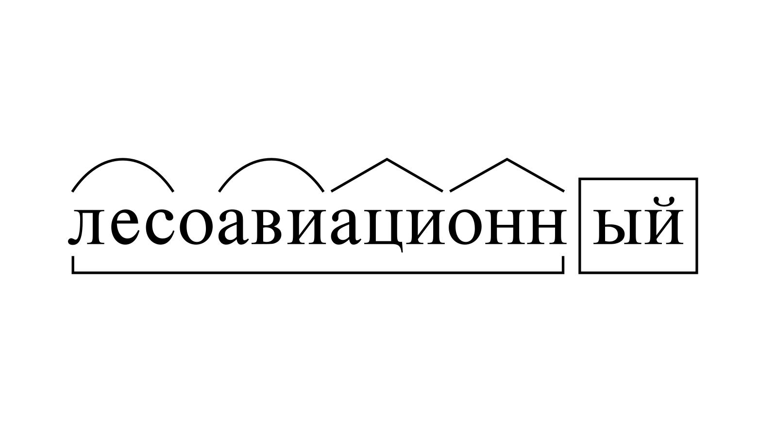 Разбор слова «лесоавиационный» по составу