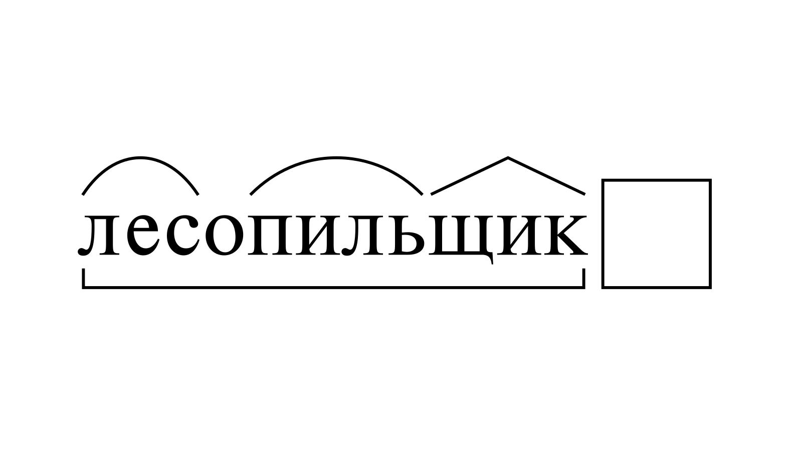 Разбор слова «лесопильщик» по составу