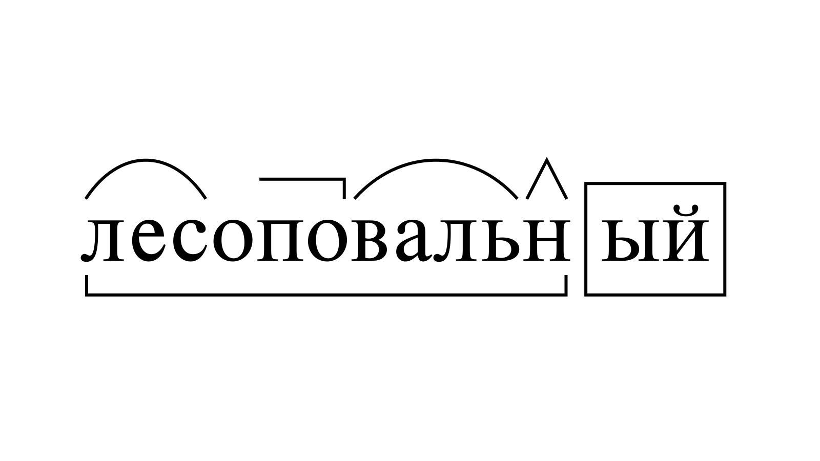 Разбор слова «лесоповальный» по составу