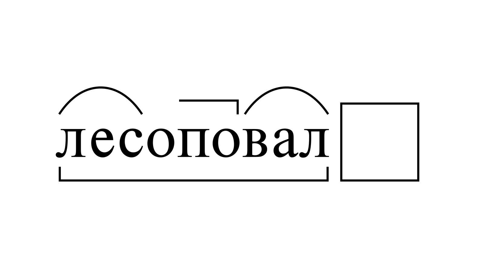 Разбор слова «лесоповал» по составу