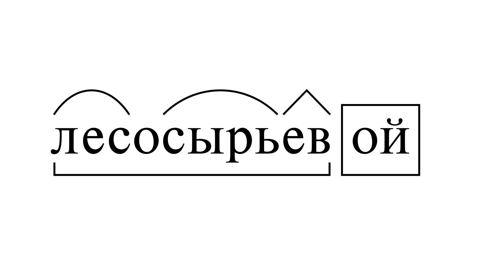 Разбор слова «лесосырьевой» по составу