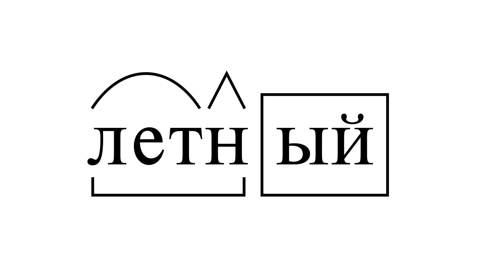 Разбор слова «летный» по составу