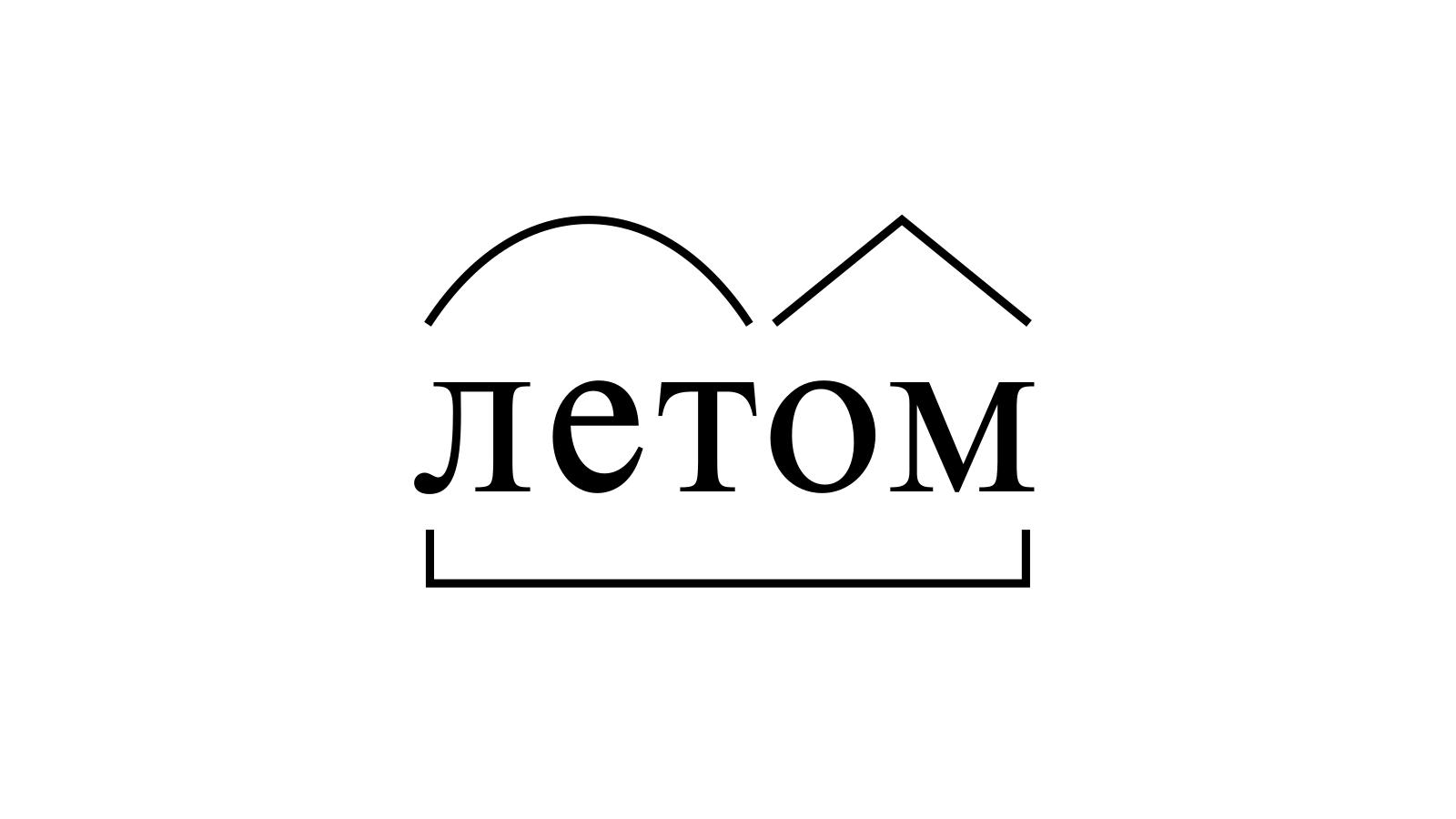 Разбор слова «летом» по составу