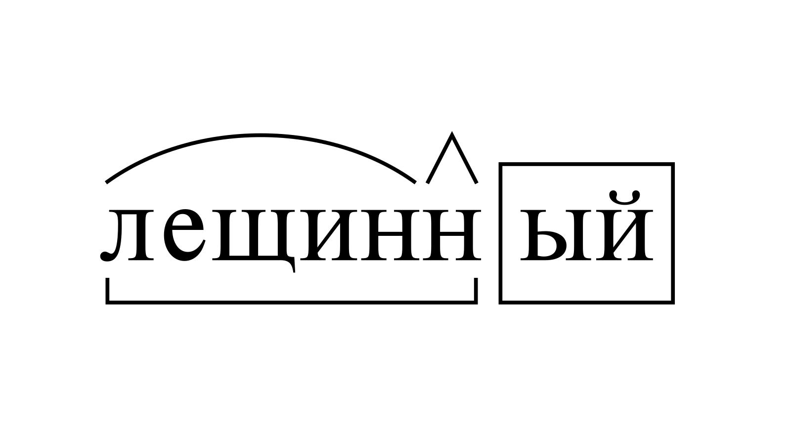 Разбор слова «лещинный» по составу