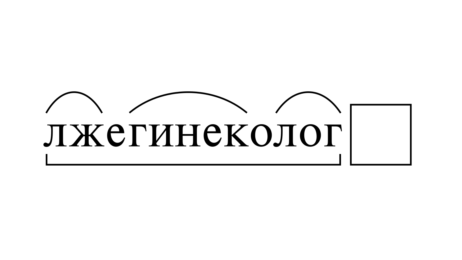 Разбор слова «лжегинеколог» по составу