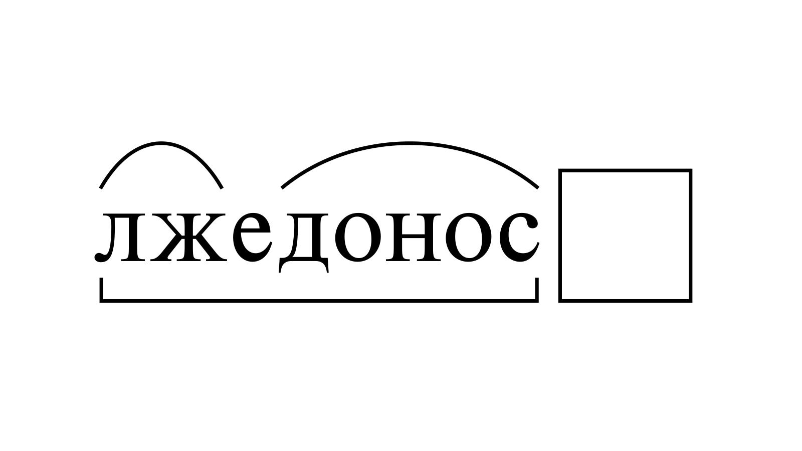 Разбор слова «лжедонос» по составу