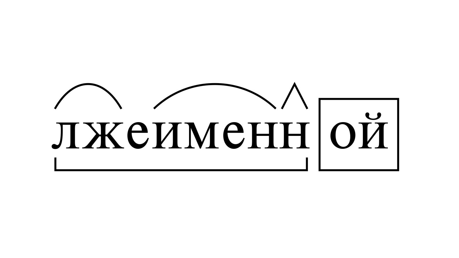 Разбор слова «лжеименной» по составу