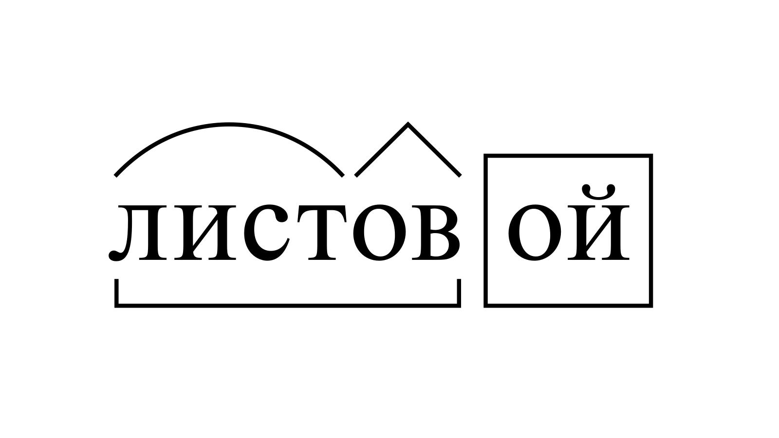 Разбор слова «листовой» по составу