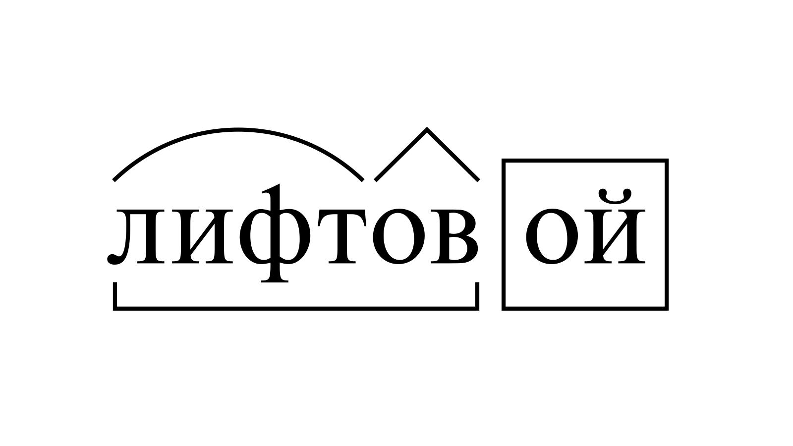 Разбор слова «лифтовой» по составу