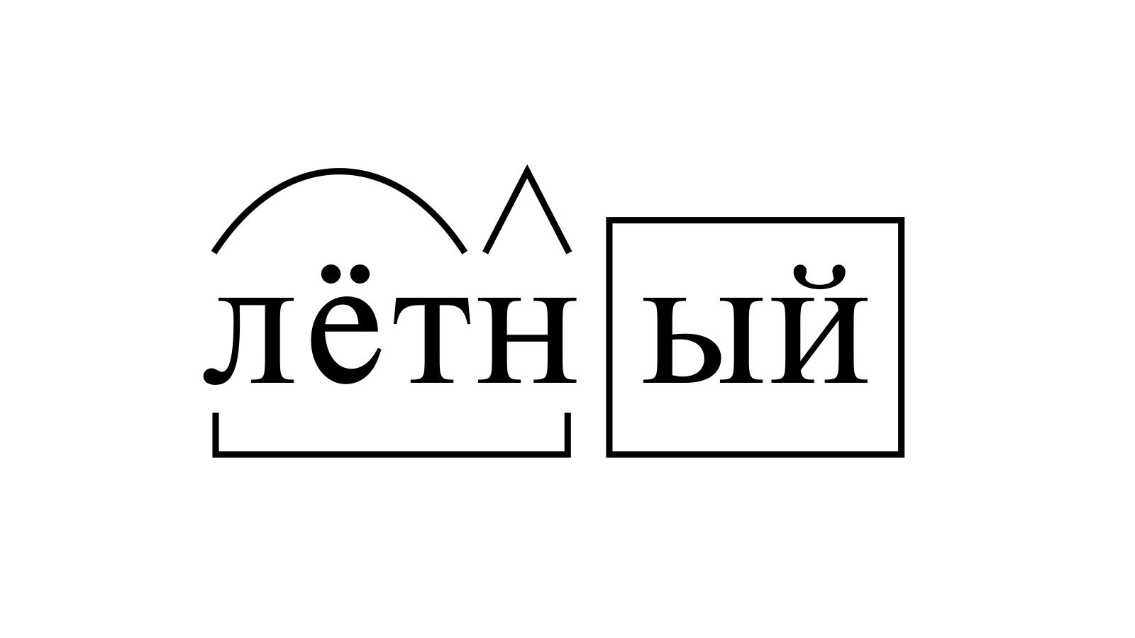 Разбор слова «лётный» по составу