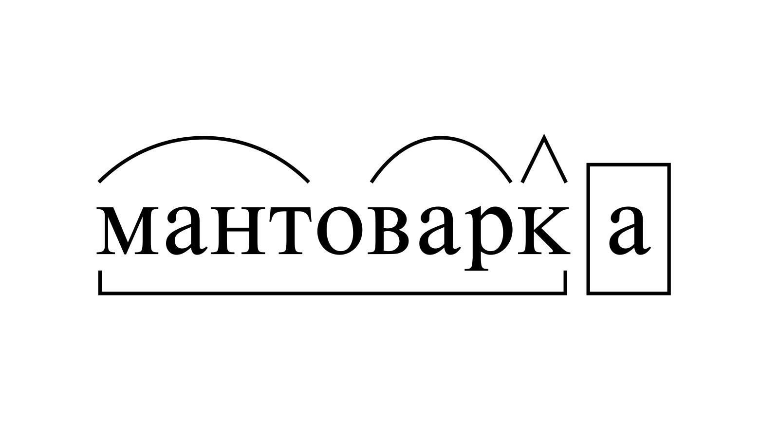Разбор слова «мантоварка» по составу
