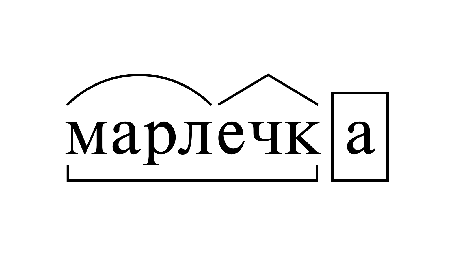 Разбор слова «марлечка» по составу