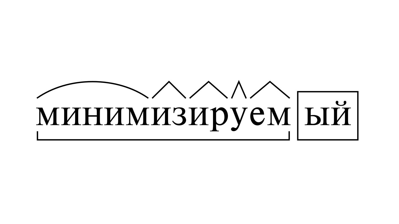 Разбор слова «минимизируемый» по составу