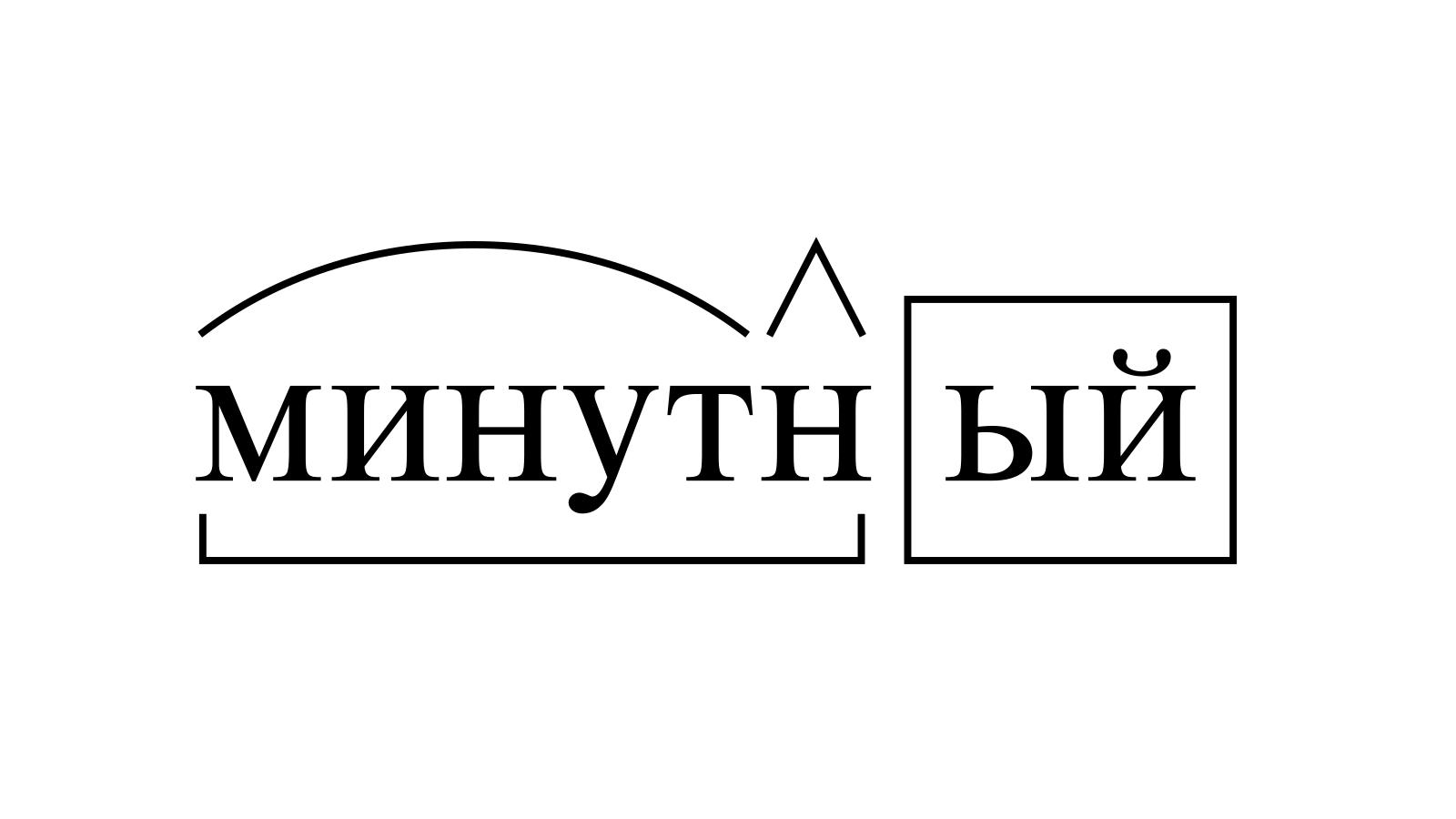 Разбор слова «минутный» по составу