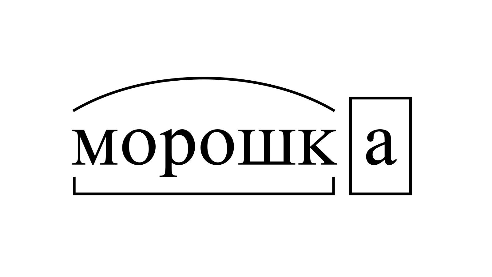 Разбор слова «морошка» по составу