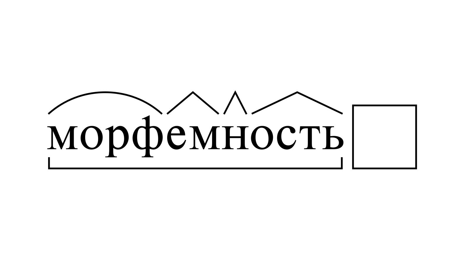 Разбор слова «морфемность» по составу