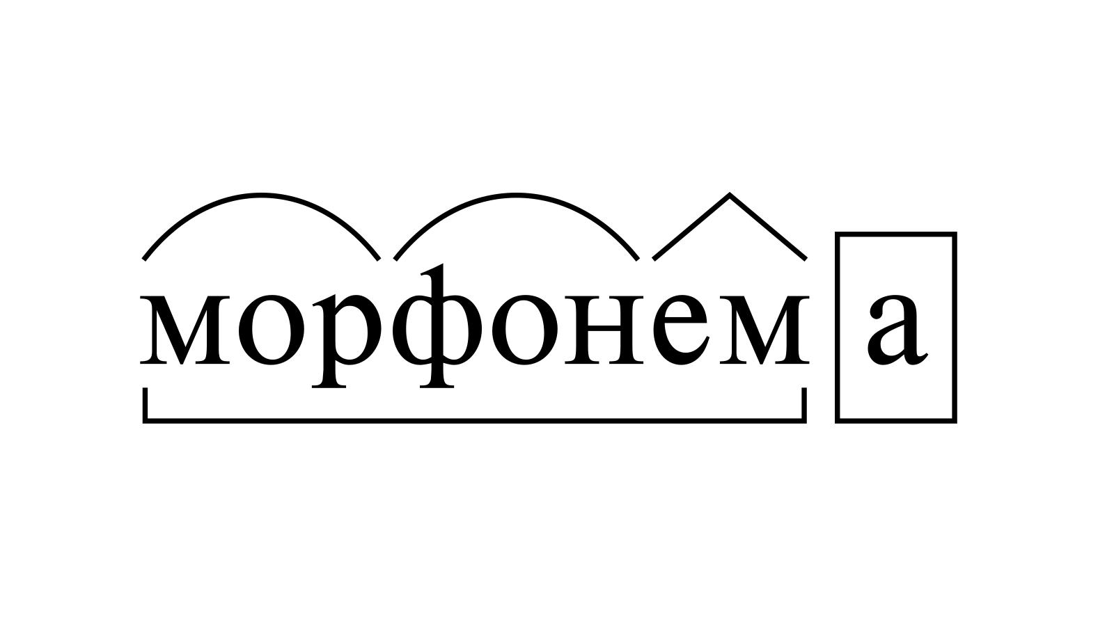 Разбор слова «морфонема» по составу