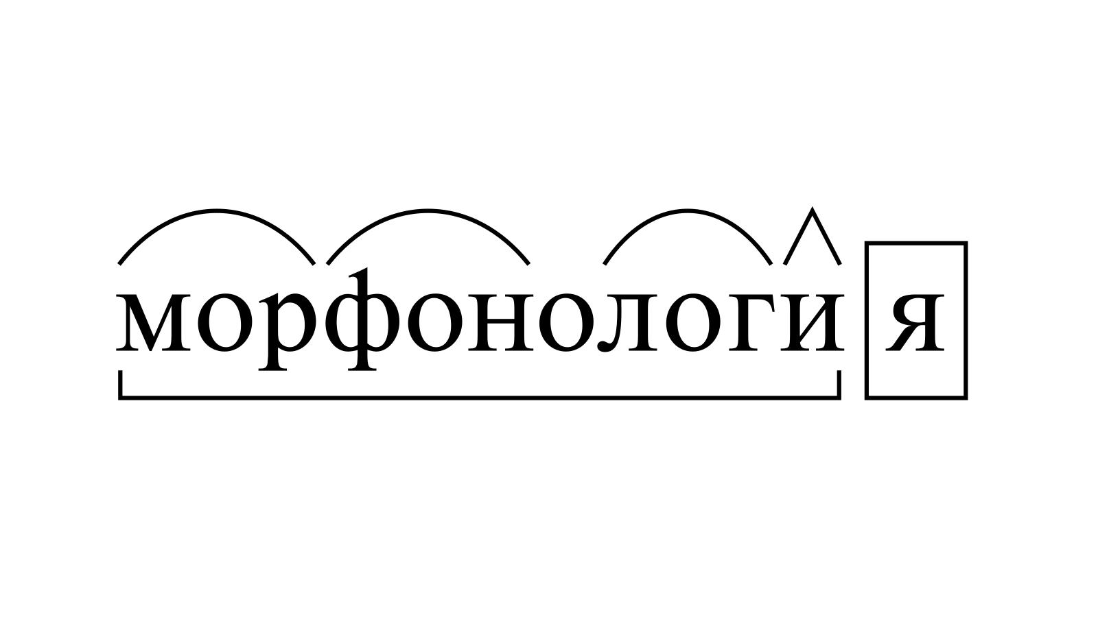 Разбор слова «морфонология» по составу