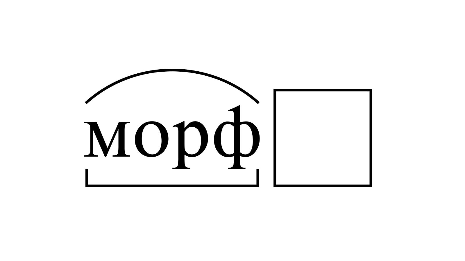 Разбор слова «морф» по составу