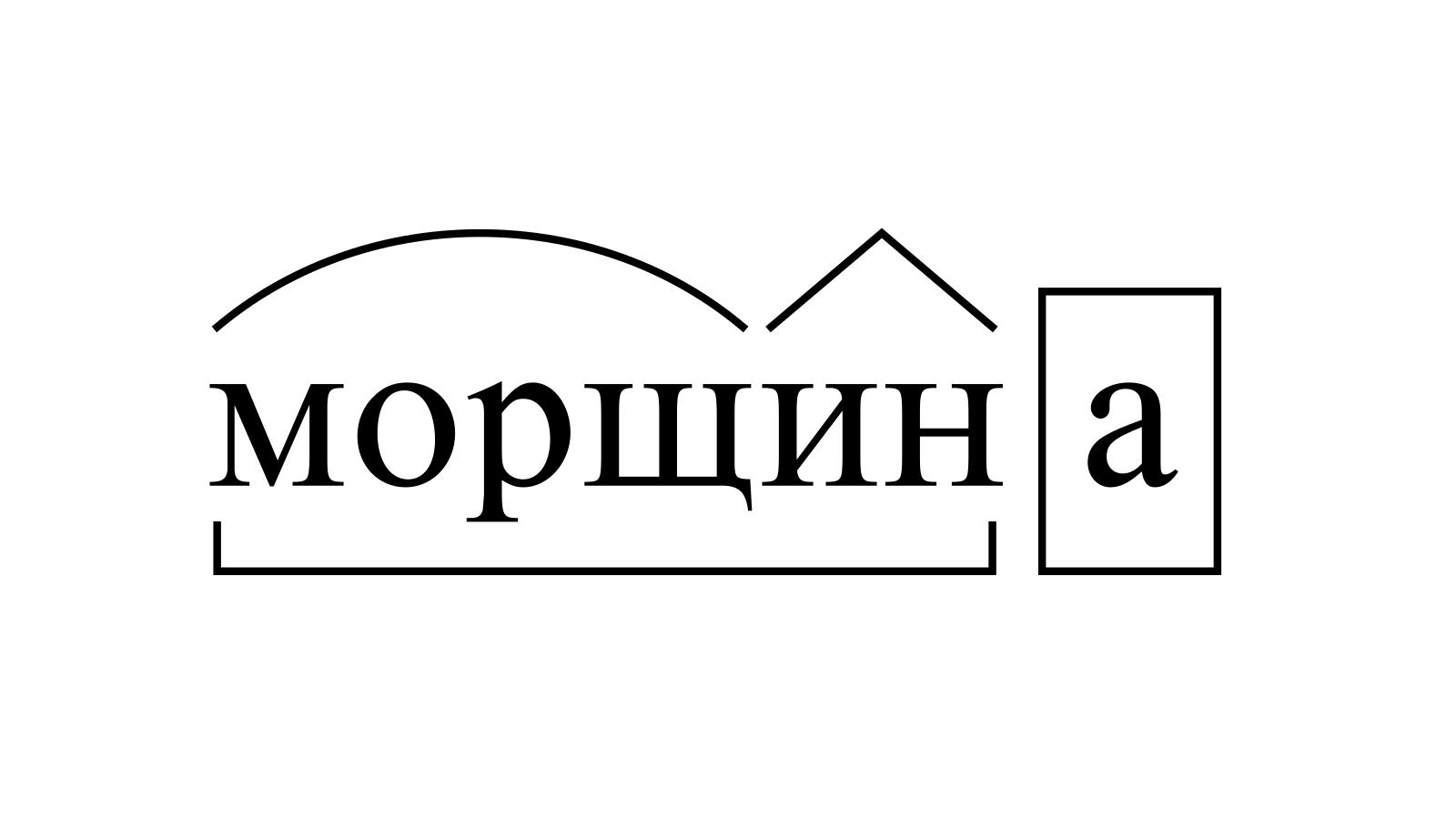 Разбор слова «морщина» по составу