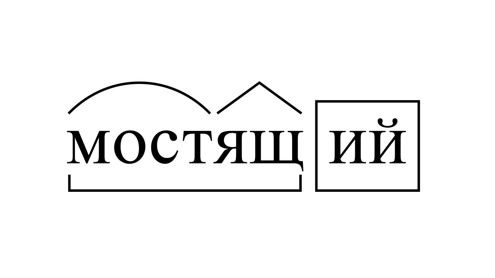 Разбор слова «мостящий» по составу