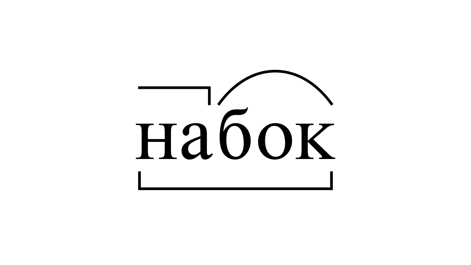 Разбор слова «набок» по составу