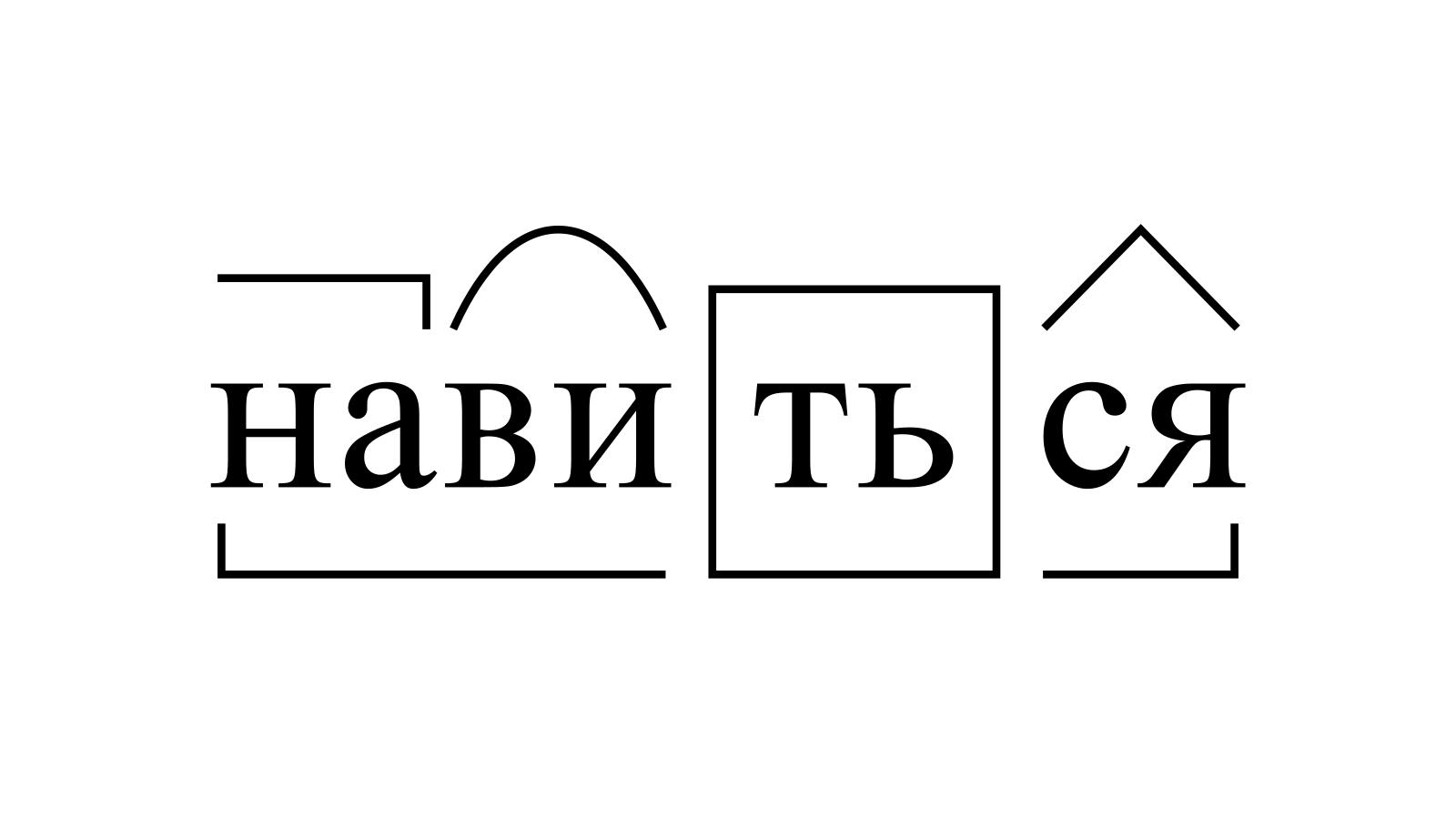 Разбор слова «навиться» по составу