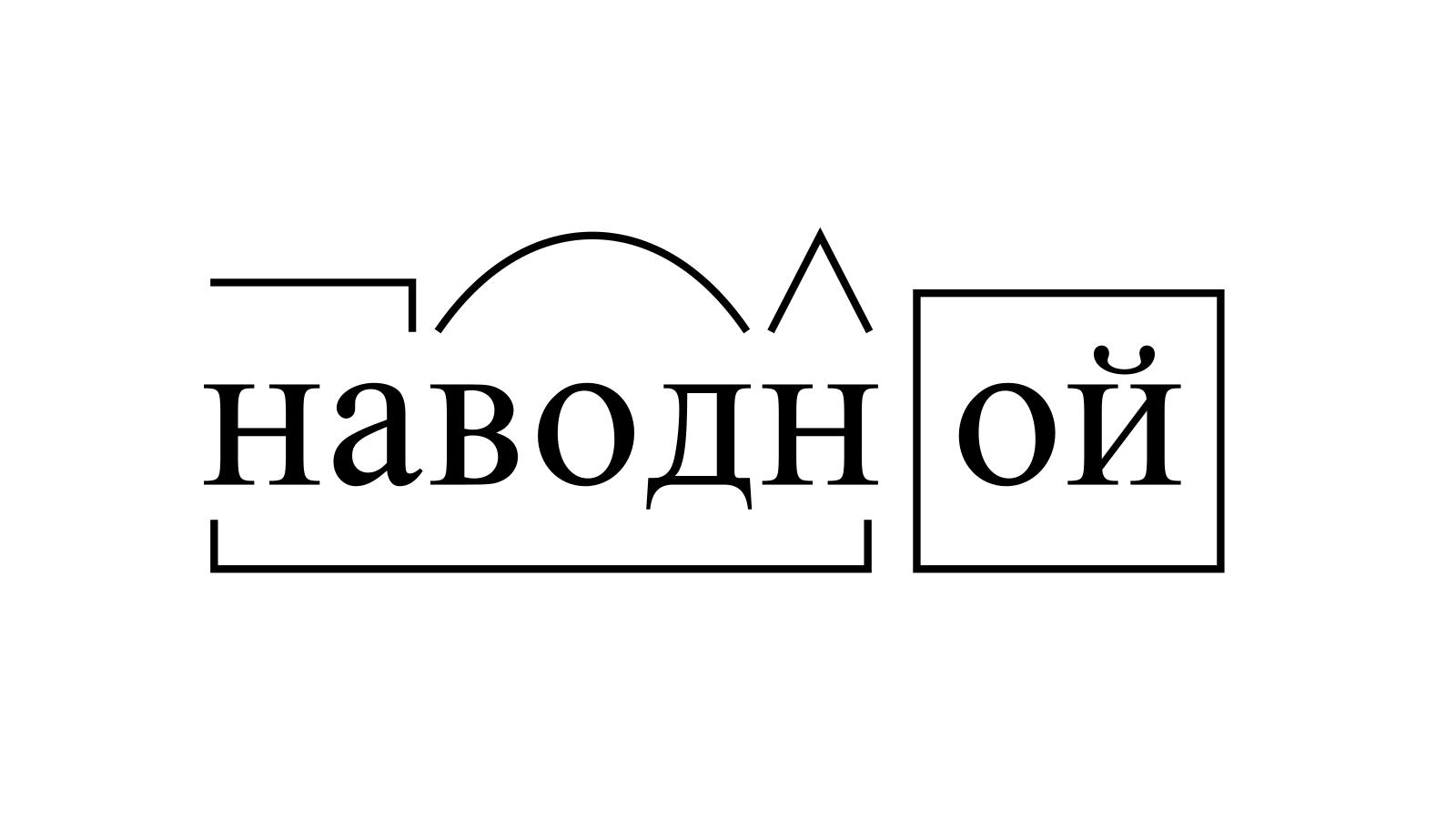 Разбор слова «наводной» по составу