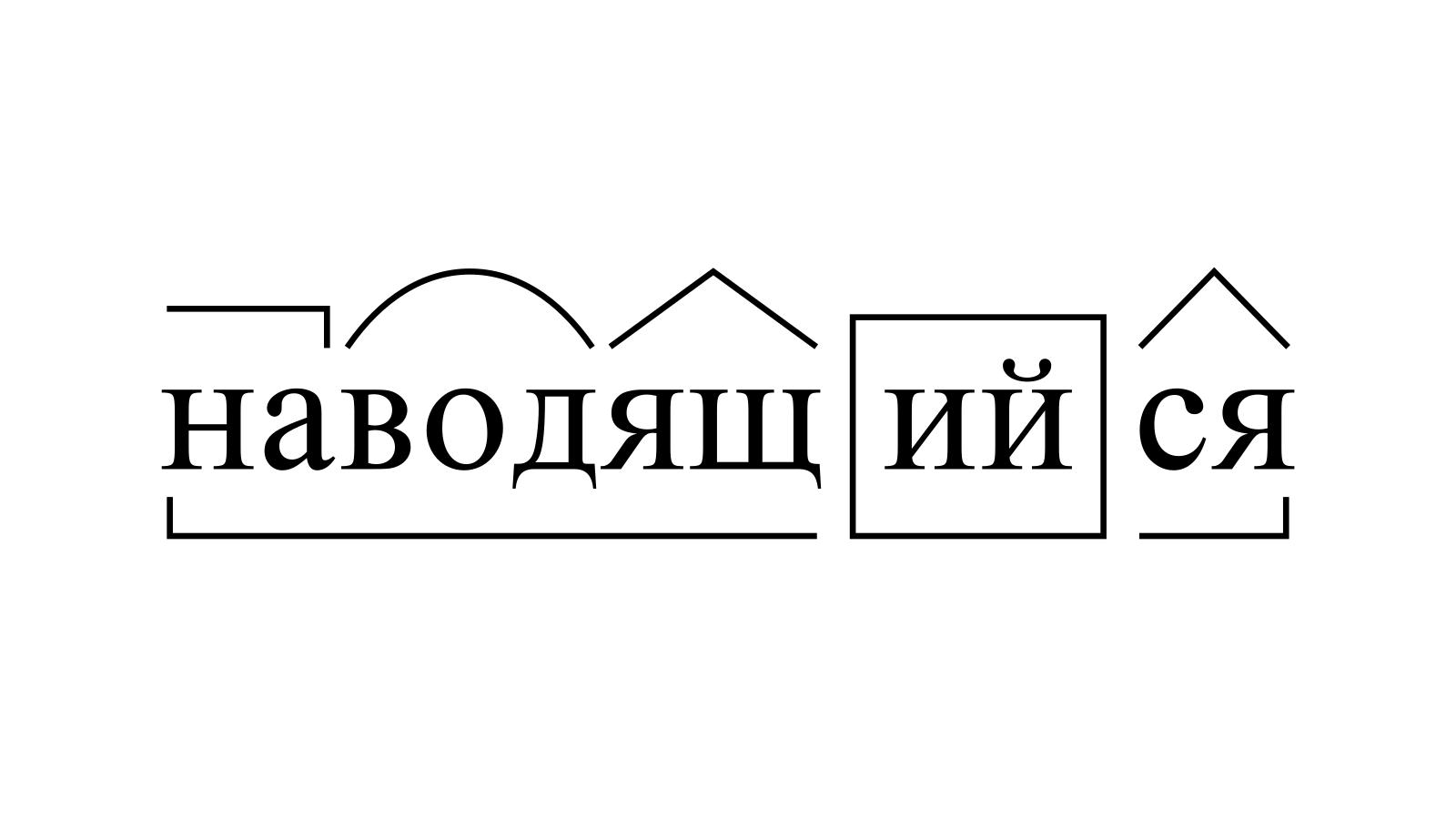 Разбор слова «наводящийся» по составу