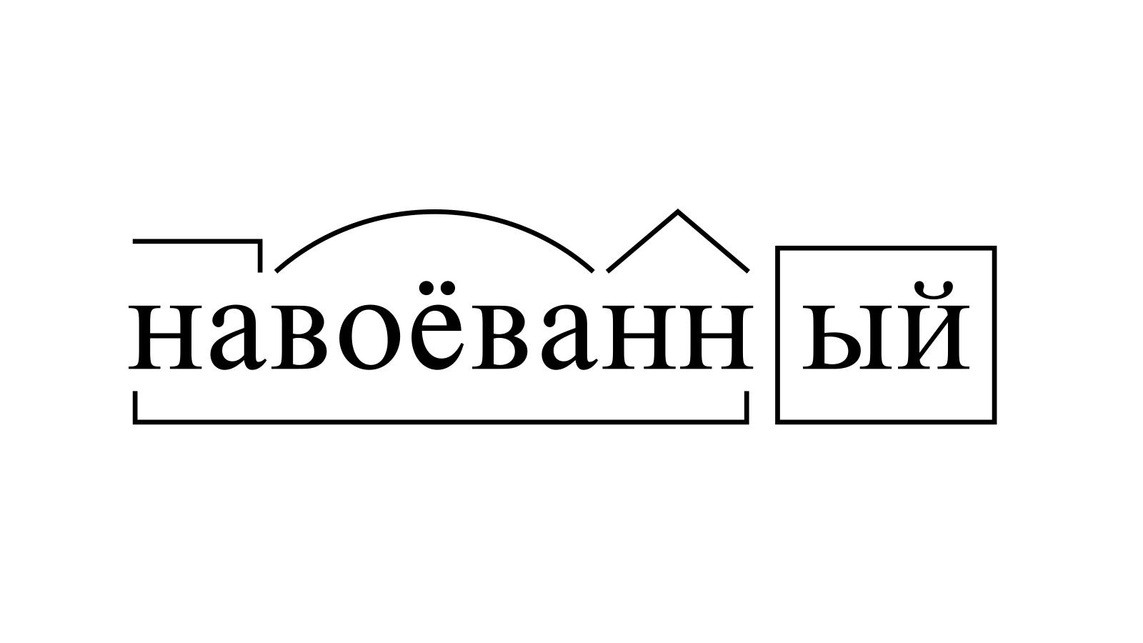 Разбор слова «навоёванный» по составу