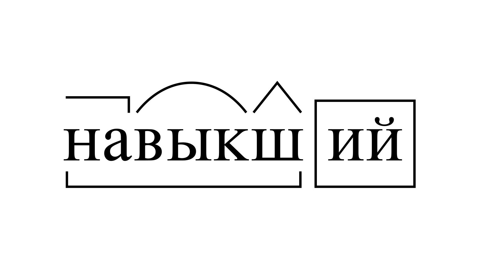 Разбор слова «навыкший» по составу