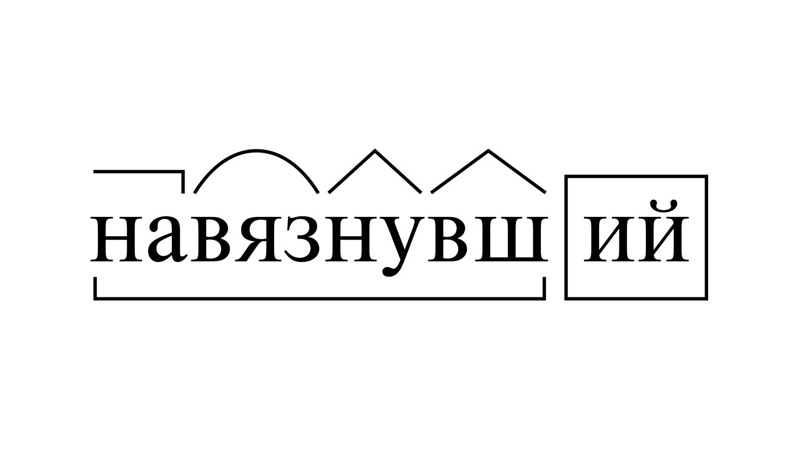 Разбор слова «навязнувший» по составу