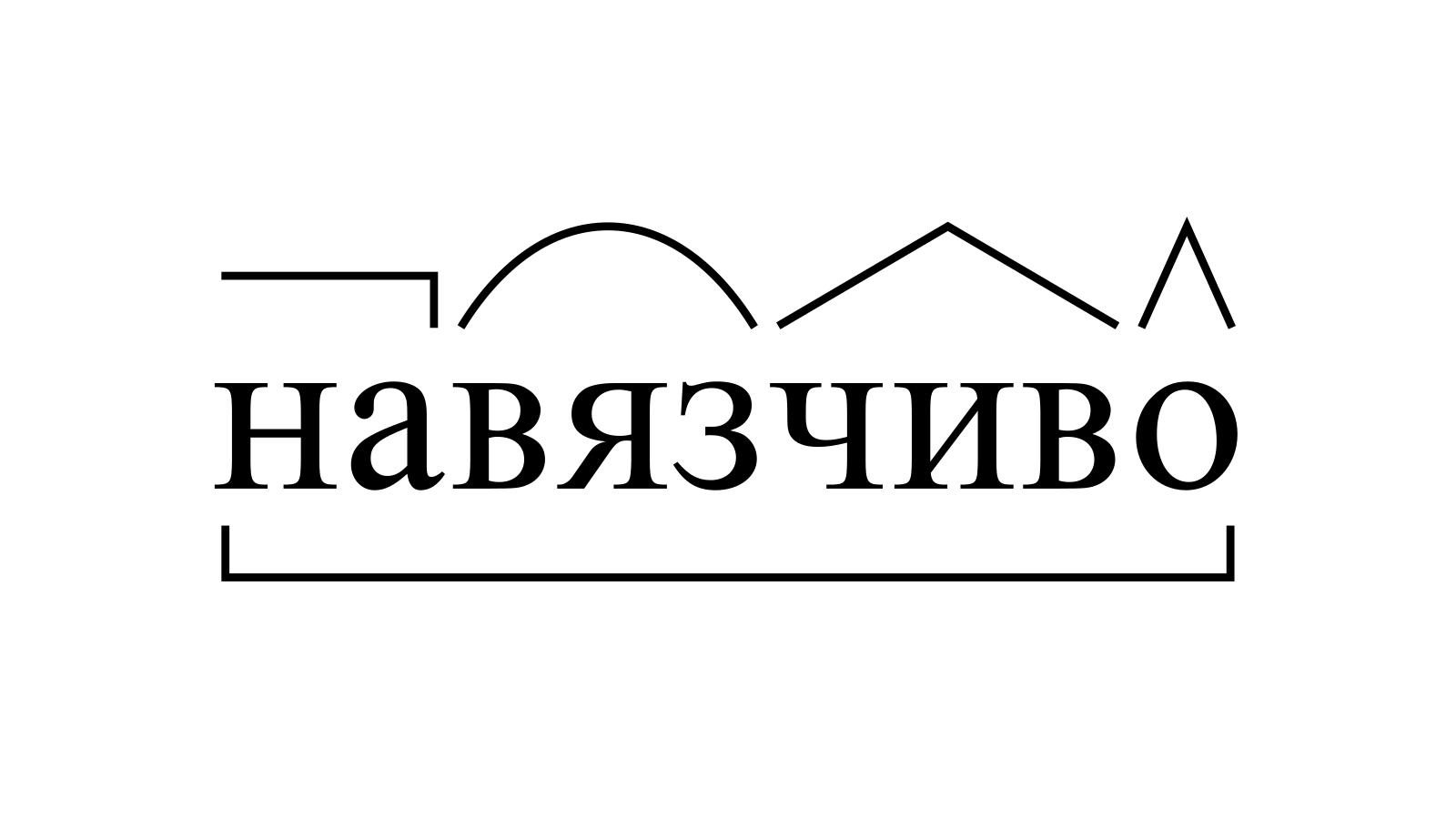 Разбор слова «навязчиво» по составу