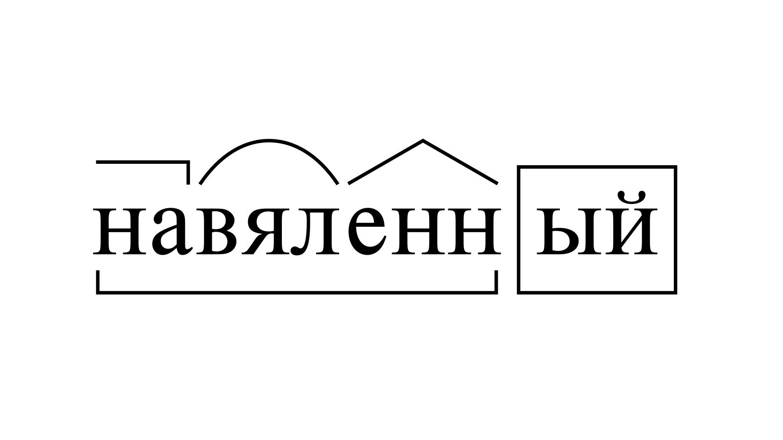 Разбор слова «навяленный» по составу