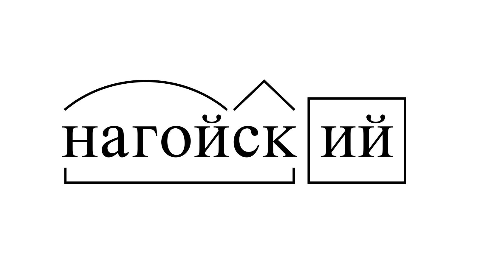 Разбор слова «нагойский» по составу