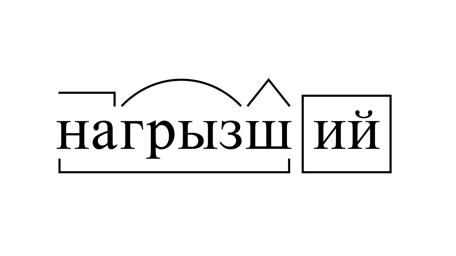 Разбор слова «нагрызший» по составу