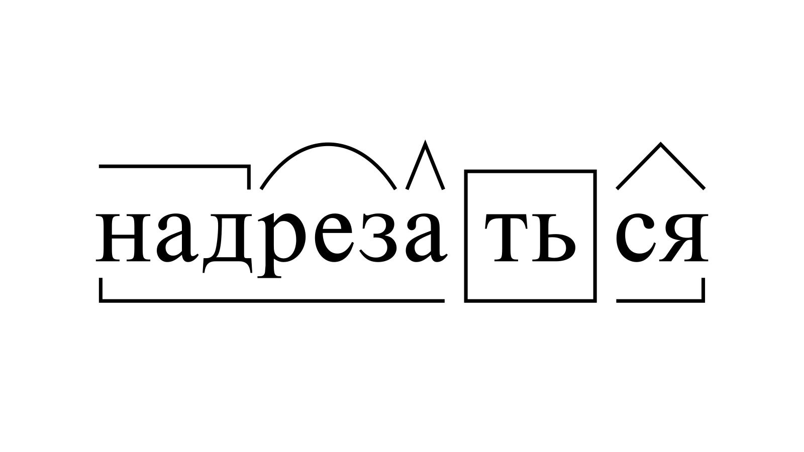 Разбор слова «надрезаться» по составу