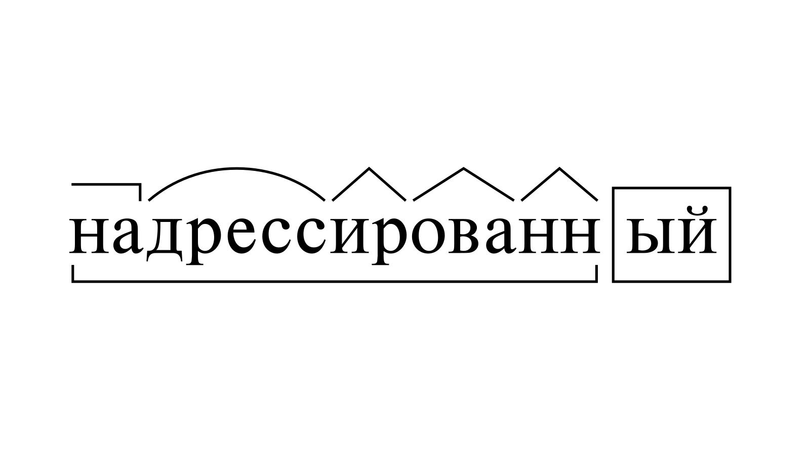 Разбор слова «надрессированный» по составу