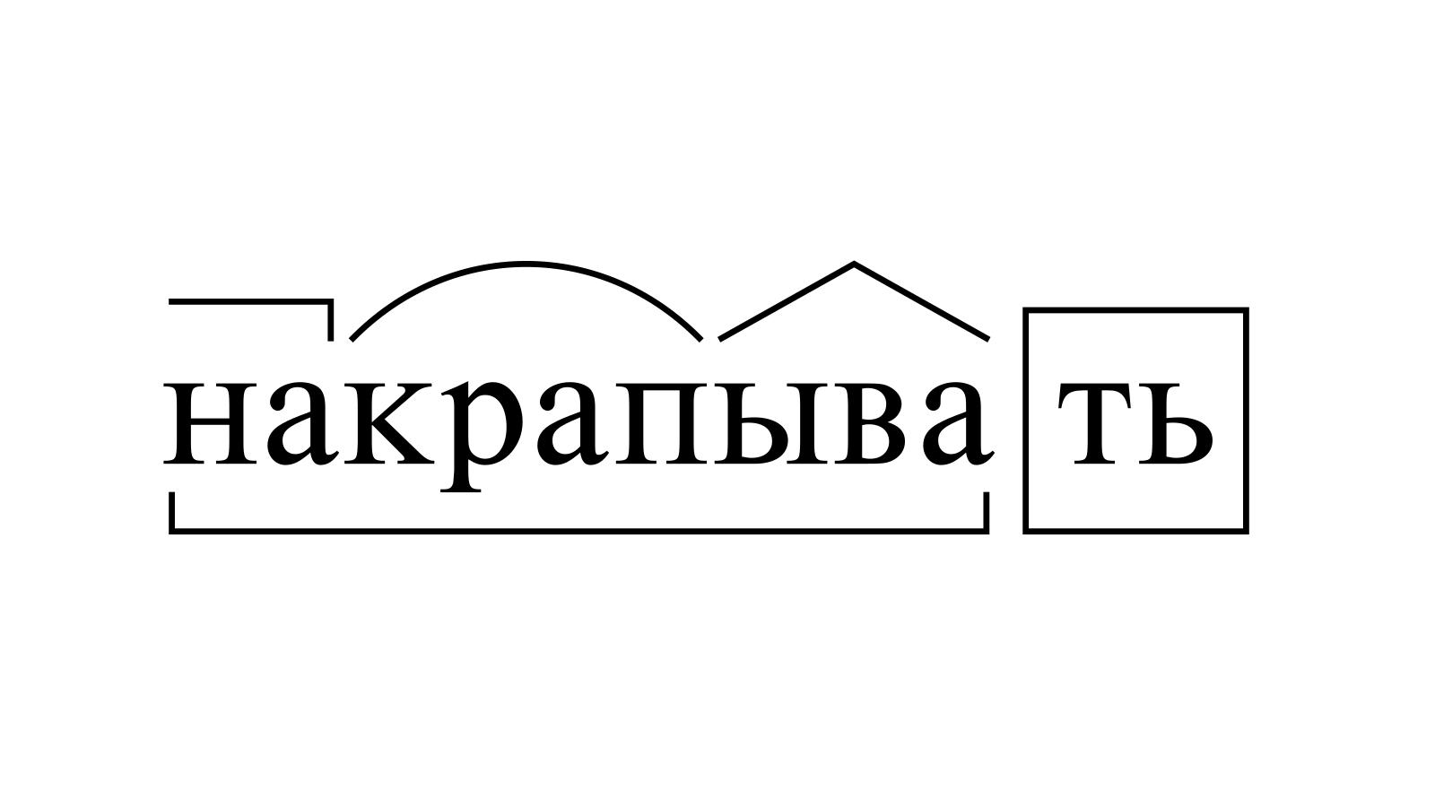 Разбор слова «накрапывать» по составу