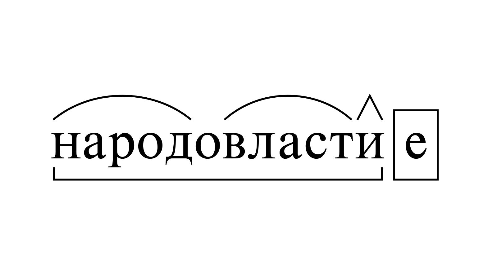 Разбор слова «народовластие» по составу